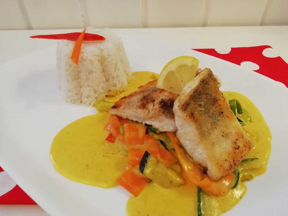 Fisch Curry mit Basmatireis
